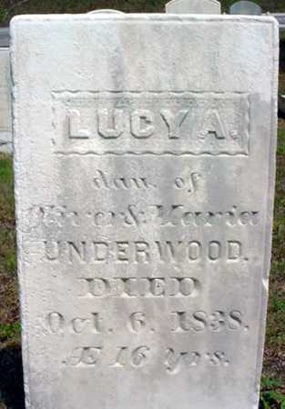 UNDERWOOD, LUCY A - Warren County, New York | LUCY A UNDERWOOD - New York Gravestone Photos
