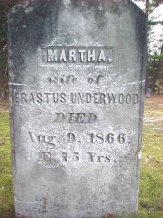 UNDERWOOD, MARTHA - Warren County, New York   MARTHA UNDERWOOD - New York Gravestone Photos