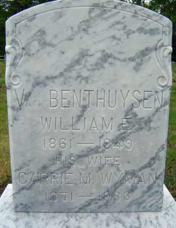 VAN BENTHUYSEN, WILLIAM E - Warren County, New York | WILLIAM E VAN BENTHUYSEN - New York Gravestone Photos