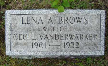 VANDERWARKER, LENA A - Warren County, New York | LENA A VANDERWARKER - New York Gravestone Photos
