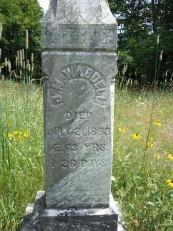 WADDELL, J M - Warren County, New York   J M WADDELL - New York Gravestone Photos