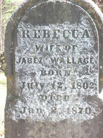 WALLACE, REBECCA - Warren County, New York | REBECCA WALLACE - New York Gravestone Photos