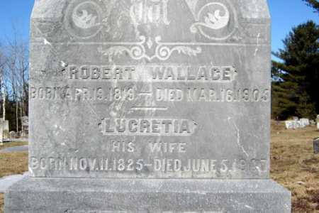 WALLACE, LUCRETIA - Warren County, New York | LUCRETIA WALLACE - New York Gravestone Photos
