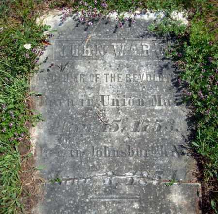 WARD, JOHN - Warren County, New York | JOHN WARD - New York Gravestone Photos