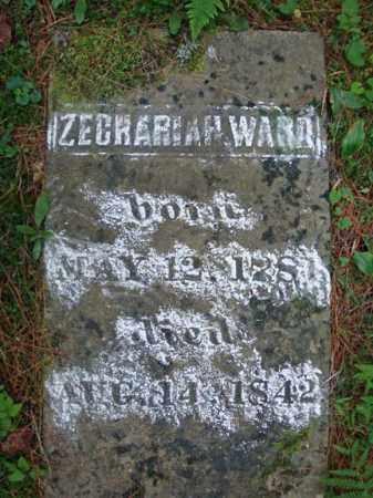 WARD, ZECRARIAH - Warren County, New York | ZECRARIAH WARD - New York Gravestone Photos
