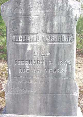 WASHBURN, ARCHIBALD - Warren County, New York | ARCHIBALD WASHBURN - New York Gravestone Photos