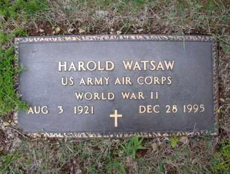 WATSAW (WWII), HAROLD - Warren County, New York | HAROLD WATSAW (WWII) - New York Gravestone Photos