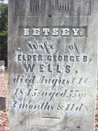 WELLS, BETSEY - Warren County, New York | BETSEY WELLS - New York Gravestone Photos