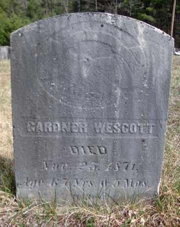 WESCOTT, GARDNER - Warren County, New York   GARDNER WESCOTT - New York Gravestone Photos