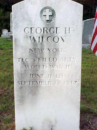 WILCOX, GEORGE H - Warren County, New York | GEORGE H WILCOX - New York Gravestone Photos
