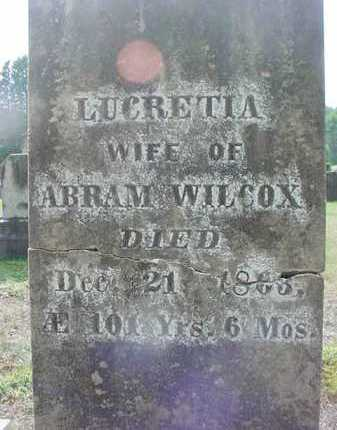 WILCOX, LUCRETIA - Warren County, New York | LUCRETIA WILCOX - New York Gravestone Photos