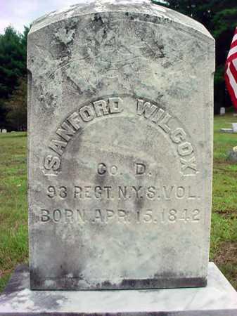 WILCOX, SANFORD - Warren County, New York | SANFORD WILCOX - New York Gravestone Photos