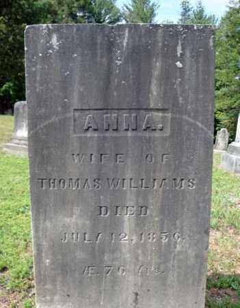 WILLIAMS, ANNA - Warren County, New York | ANNA WILLIAMS - New York Gravestone Photos