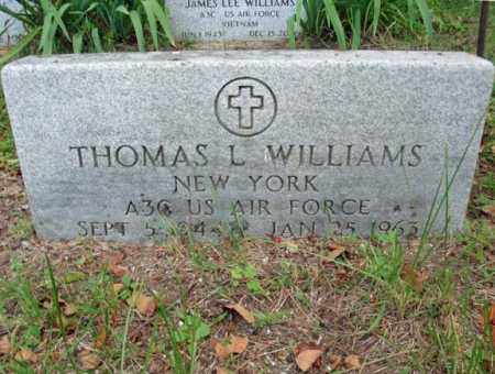 WILLIAMS, THOMAS L - Warren County, New York | THOMAS L WILLIAMS - New York Gravestone Photos