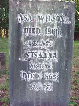 WILSON, ASA - Warren County, New York | ASA WILSON - New York Gravestone Photos