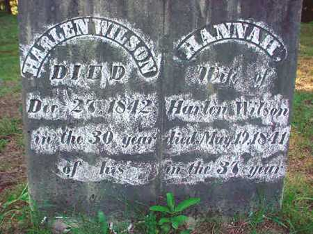 WILSON, HANNAH - Warren County, New York | HANNAH WILSON - New York Gravestone Photos