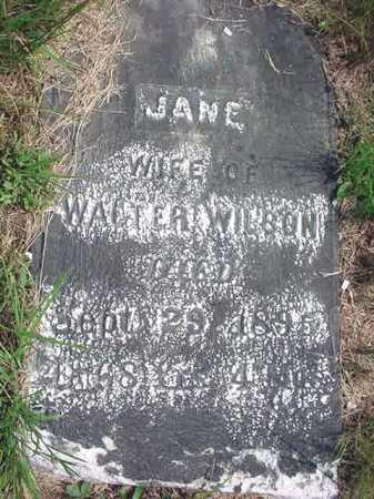 WILSON, JANE - Warren County, New York   JANE WILSON - New York Gravestone Photos