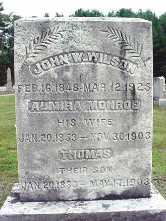 WILSON, JOHN W - Warren County, New York | JOHN W WILSON - New York Gravestone Photos