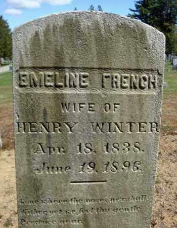 WINTER, EMELINE - Warren County, New York | EMELINE WINTER - New York Gravestone Photos
