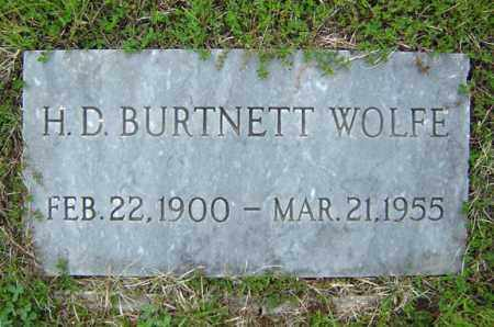 WOLFE, H D BURTNETT - Warren County, New York | H D BURTNETT WOLFE - New York Gravestone Photos