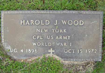WOOD (WWI), HAROLD J - Warren County, New York | HAROLD J WOOD (WWI) - New York Gravestone Photos