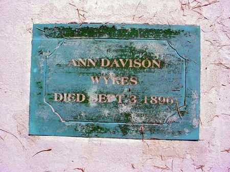 DAVISON WYKES, ANN - Warren County, New York | ANN DAVISON WYKES - New York Gravestone Photos