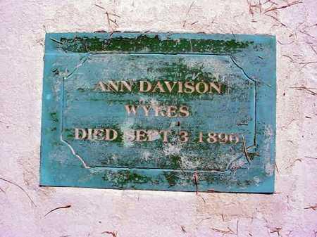 WYKES, ANN - Warren County, New York | ANN WYKES - New York Gravestone Photos