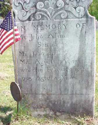 ADAMS (RW), JOHN - Washington County, New York | JOHN ADAMS (RW) - New York Gravestone Photos