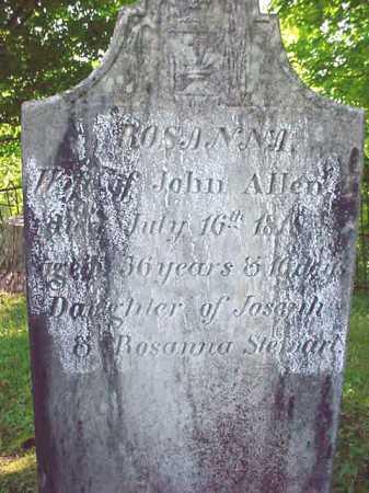 ALLEN, ROSANNA - Washington County, New York | ROSANNA ALLEN - New York Gravestone Photos