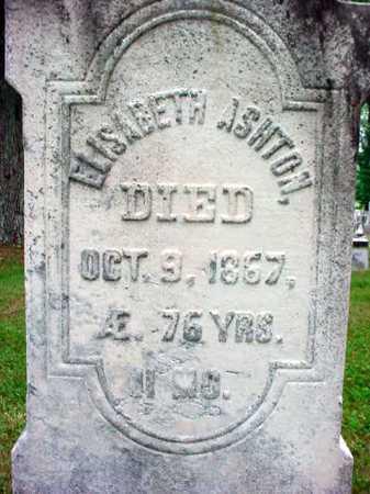 ASHTON, ELISABETH - Washington County, New York | ELISABETH ASHTON - New York Gravestone Photos