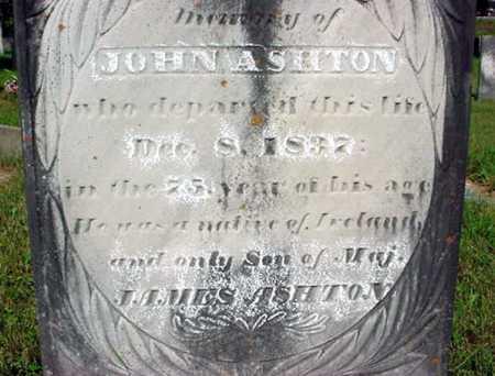 ASHTON, JOHN - Washington County, New York | JOHN ASHTON - New York Gravestone Photos