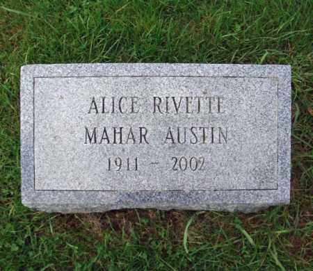 MAHAR, ALICE RIVETTE - Washington County, New York | ALICE RIVETTE MAHAR - New York Gravestone Photos
