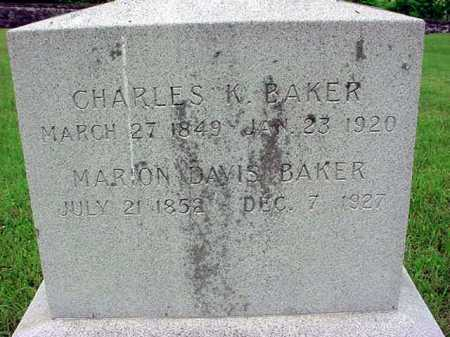 BAKER, CHARLES K - Washington County, New York | CHARLES K BAKER - New York Gravestone Photos