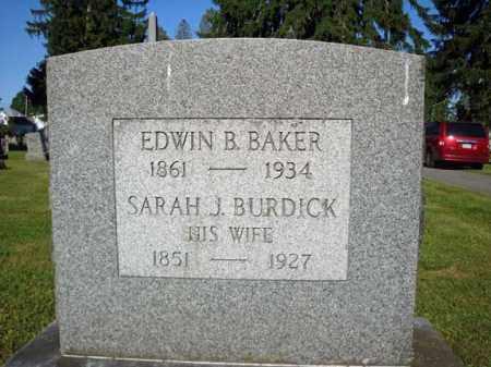BAKER, EDWIN B - Washington County, New York | EDWIN B BAKER - New York Gravestone Photos
