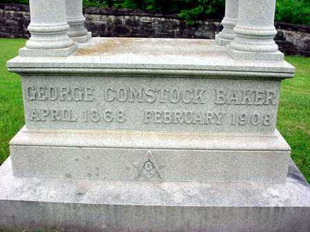 BAKER, GEORGE COMSTOCK - Washington County, New York   GEORGE COMSTOCK BAKER - New York Gravestone Photos