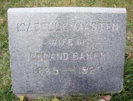 BAKER, ISABELLE - Washington County, New York | ISABELLE BAKER - New York Gravestone Photos