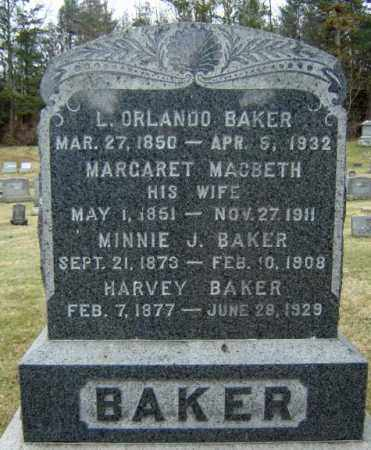 BAKER, L ORLANDO - Washington County, New York | L ORLANDO BAKER - New York Gravestone Photos