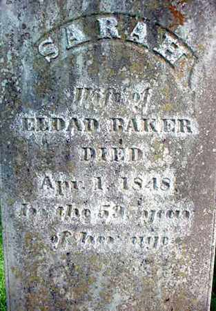 BAKER, SARAH - Washington County, New York | SARAH BAKER - New York Gravestone Photos