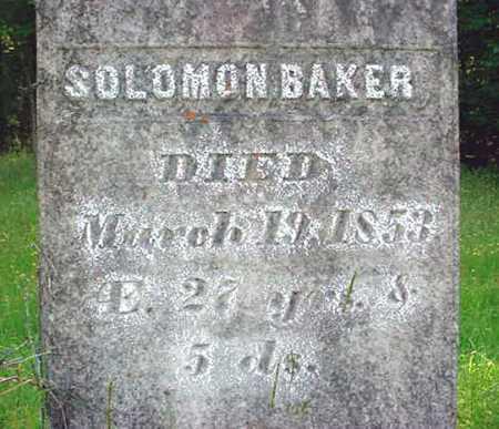 BAKER, SOLOMON - Washington County, New York   SOLOMON BAKER - New York Gravestone Photos