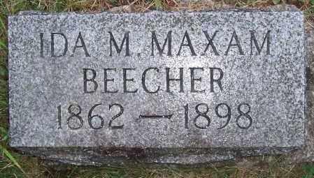 MAXAM BEECHER, IDA M. - Washington County, New York | IDA M. MAXAM BEECHER - New York Gravestone Photos