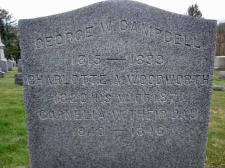 CAMPBELL, GEORGE W - Washington County, New York | GEORGE W CAMPBELL - New York Gravestone Photos