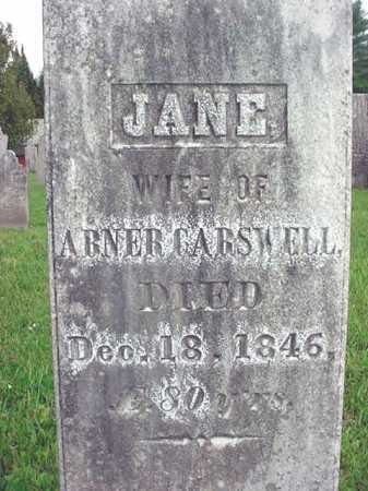 CARSWELL, JANE - Washington County, New York | JANE CARSWELL - New York Gravestone Photos