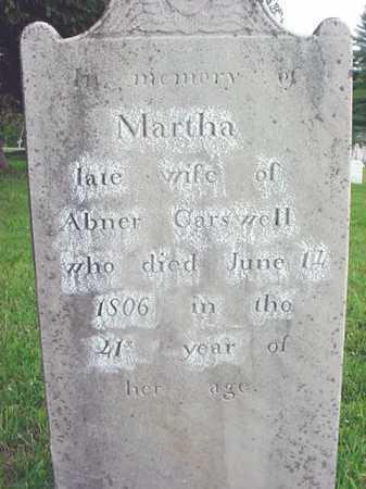 CARSWELL, MARTHA - Washington County, New York | MARTHA CARSWELL - New York Gravestone Photos