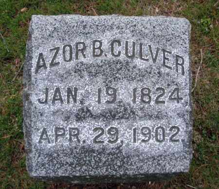 CULVER, AZOR B - Washington County, New York | AZOR B CULVER - New York Gravestone Photos