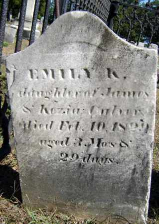 CULVER, EMILY K - Washington County, New York | EMILY K CULVER - New York Gravestone Photos