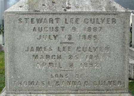 CULVER, JAMES LEE - Washington County, New York | JAMES LEE CULVER - New York Gravestone Photos