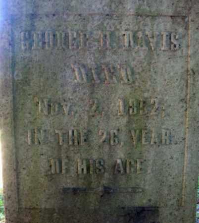 DAVIS, GEORGE H - Washington County, New York | GEORGE H DAVIS - New York Gravestone Photos