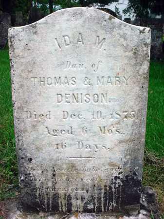 DENISON, IDA M - Washington County, New York | IDA M DENISON - New York Gravestone Photos