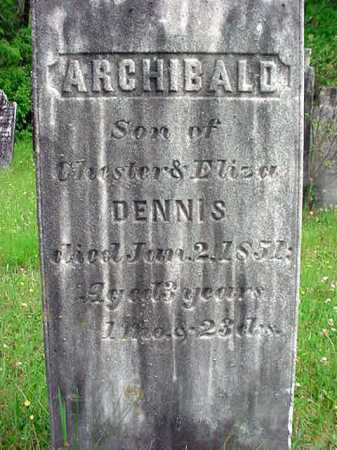 DENNIS, ARCHIBALD - Washington County, New York | ARCHIBALD DENNIS - New York Gravestone Photos