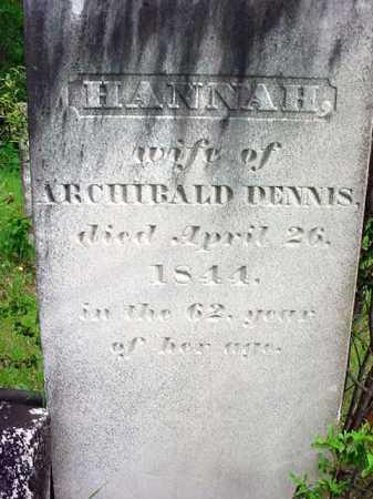 DENNIS, HANNAH - Washington County, New York   HANNAH DENNIS - New York Gravestone Photos